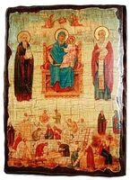 Экономисса Б.М., икона под старину, сургуч (13 Х 17)