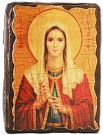Эмилия, Св.Муч, икона под старину, сургуч (13 Х 17)