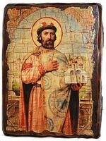 Ярослав Мудрый, икона под старину, сургуч (13 Х 17)