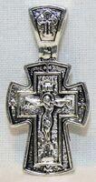 Крест нательный металл (1-10) литой цвет серебро чернение