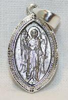 Образок нательный литой (7) Ангел Хранитель, цвет серебро черненое