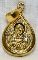 Образок нательный литой (35) Умиление Б.М., цвет золото чернение