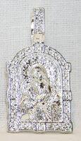 Образок нательный литой (31) Умиление Б.М., цвет серебро