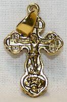 Крест нательный металл (1-02) литой цвет золото чернение