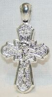 Крест нательный металл (1-44) литой цвет серебро
