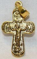 Крест нательный металл (1-33) литой цвет золото чернение