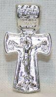 Крест нательный металл (1-07) литой цвет серебро