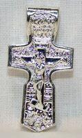 Крест нательный металл (1-32) литой цвет серебро