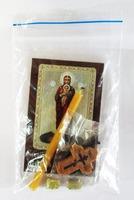Валаамская Б.М. Набор для домашней молитвы (Zip-Lock). Лик, молитва, свечка, ладан, крестик