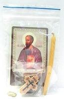 Апостол Павел. Набор для домашней молитвы (Zip-Lock). Лик, молитва, свечка, ладан, крестик