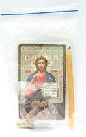 Псалом 90. Набор для домашней молитвы (Zip-Lock). Лик, молитва, свечка, ладан, крестик