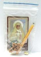 Елисавета. Святая преподобномученица. Набор для домашней молитвы (Zip-Lock). Лик, молитва, свечка, ладан, крестик