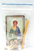 Вера. Святая мученица. Набор для домашней молитвы (Zip-Lock). Лик, молитва, свечка, ладан, крестик
