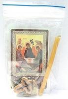 Символ веры. Набор для домашней молитвы (Zip-Lock). Лик, молитва, свечка, ладан, крестик
