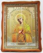 Умягчение злых сердец Б.М., светлый фигурный киот, с багетом. Храмовая икона (44 Х 57)