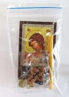 Ангел - Хранитель (пояс). Набор для домашней молитвы (Zip-Lock). Лик, молитва, свечка, ладан, крестик