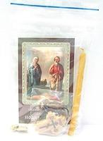 Иоаким и Анна. Набор для домашней молитвы (Zip-Lock). Лик, молитва, свечка, ладан, крестик