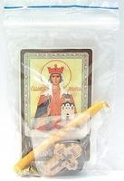 Людмила. Святая мученица. Набор для домашней молитвы (Zip-Lock). Лик, молитва, свечка, ладан, крестик