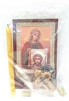 Вероника. Святая мученица. Набор для домашней молитвы (Zip-Lock). Лик, молитва, свечка, ладан, крестик