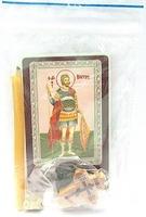 Виктор. Святой мученик. Набор для домашней молитвы (Zip-Lock). Лик, молитва, свечка, ладан, крестик