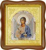 Ангел Хранитель, средняя аналойная икона, фигурный киот (Д-17фс-01)