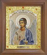Ангел Хранитель. Икона в деревянной рамке с окладом (Д-25псо-01)