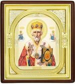 Николай Чудотворец, средняя аналойная икона, риза (Д-1с-27)
