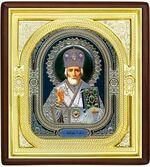 Николай Чудотворец, средняя аналойная икона, риза (Д-1с-28)
