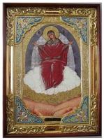 Спорительница хлебов Б.М., в прямом киоте, с багетом. Храмовая икона (58 Х 79)