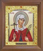 Валентина, Св. муч. Икона в деревянной рамке с окладом (Д-26псо-104)