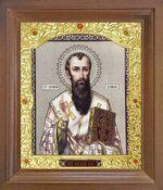 Василий Великий. Икона в деревянной рамке с окладом (Д-26псо-105)