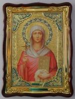 Нина, Св. Равноап., в фигурном киоте, с багетом. Храмовая икона (60 Х 80)