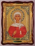 Наталия, Св. муч., в фигурном киоте, с багетом. Храмовая икона (60 Х 80)