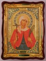 Валентина, Св. муч., в фигурном киоте, с багетом. Храмовая икона (60 Х 80)
