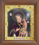 Воспитание Б.М. Икона в деревянной рамке с окладом (Д-26псо-109)