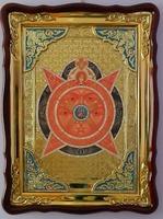 Всевидящее око, в фигурном киоте, с багетом. Храмовая икона 60 Х 80 см.