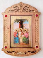 Троица. Икона настольная, резная, фигурная, JERUSALEM