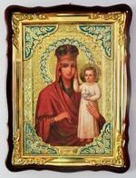 Призри на смирение Б.М., в фигурном киоте, с багетом. Храмовая икона 60 Х 80 см.