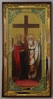 Воздвижение Честного Креста Господня, с багетом. Большая Храмовая икона (58 х 110)