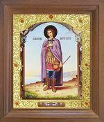 Дмитрий Солунский (рост). Икона в деревянной рамке с окладом (Д-26псо-115)