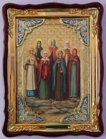 Жены - мироносицы, в фигурном киоте, с багетом. Храмовая икона (60 Х 80)