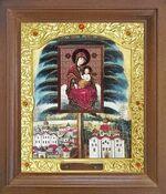 Елецкая Б.М. Икона в деревянной рамке с окладом (Д-26псо-116)