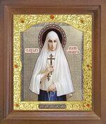 Елисавета, Св. Преподобномученица. Икона в деревянной рамке с окладом (Д-26псо-118)