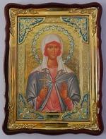 Лидия Св. муч., в фигурном киоте, с багетом. Храмовая икона 60 Х 80 см