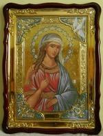Ирина, Св. муч., в фигурном киоте, с багетом. Храмовая икона (60 Х 80)