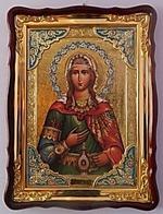 Светлана (Фотиния), Св. муч., в фигурном киоте, с багетом. Храмовая икона (60 Х 80)