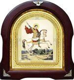 Чудо Георгия о змие. Аналойная арочная икона (А-32)