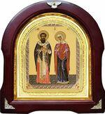 Киприан и Устинья. Аналойная арочная икона (А-35)
