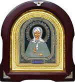 Матрона Московская. Аналойная арочная икона (А-38)