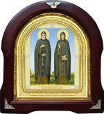 Петр и Феврония. Аналойная арочная икона (А-49)